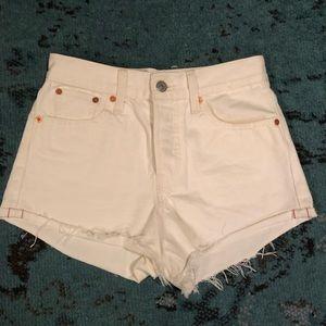 Levi Strauss 501 White Jean Short